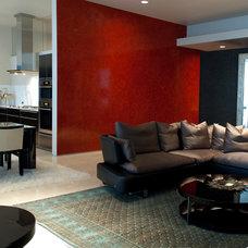 Contemporary Living Room by Susan Newell Custom Home Builder, Inc.