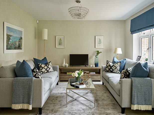 Contemporary Living Room by Jessie McDonald Design