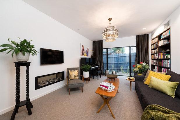 Modern Living Room by White Pebble Interiors