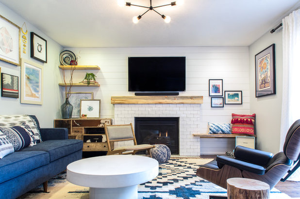 Eclectic Living Room by Emilia Decor