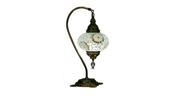 Swan Neck Turkish Moroccan Handmade Mosaic Table Bedside Desk Lamp Light for US/
