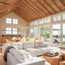 Beach Style Family Room by Estes/Twombly Architects, Inc.