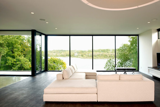 Modern Living Room by CHRISTIAN DEAN ARCHITECTURE, LLC