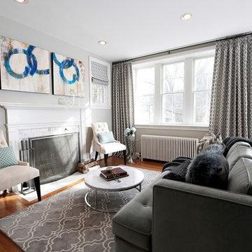 Sweet Sophistication: Living Room