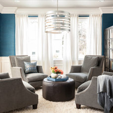 Transitional Living Room by Threshold Goods & Design, LLC