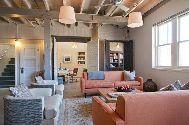 Rustic Living Room by Envi Interior Design Studio