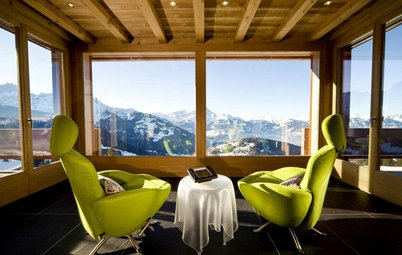 Houzz Tour: A Stylish Alpine Chalet With Incredible Mountain Views