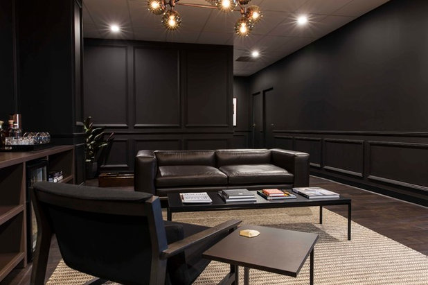 Modern Living Room by Designer Man Cave