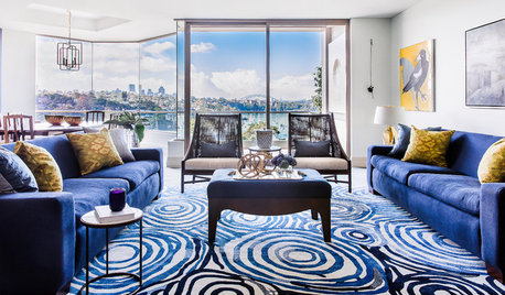 Room of the Week: An Art-Filled, Beautifully Blue Living Room