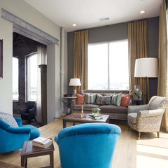 eclectic living room by Sylvia Martin