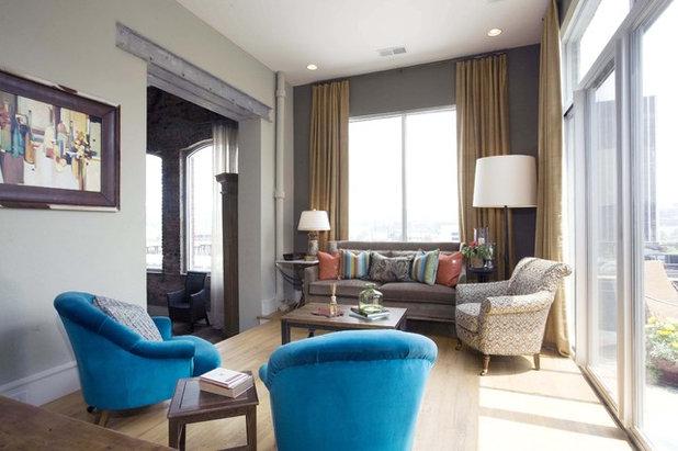 Industrial Living Room by Sylvia Martin