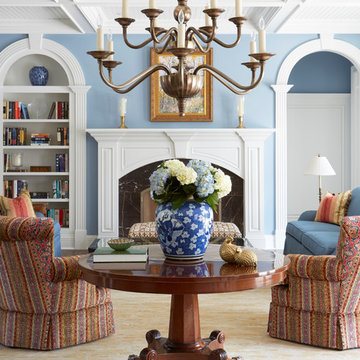 Symmetrical Arched Openings in Living Room