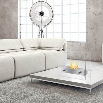 Tab Stainless Steel Tabletop Fireplace
