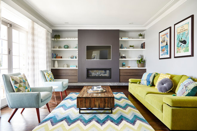 Transitional Living Room by Nimmo Nielsen Collective