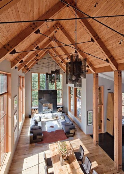 Rustic Living Room by WA Design Architects