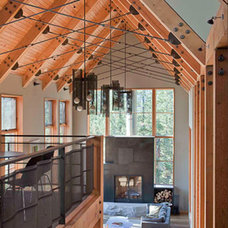Rustic Living Room by WA design
