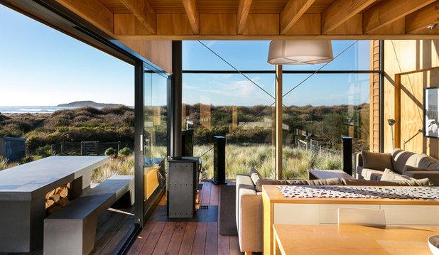 Coastal Living Room by Mason & Wales Architects