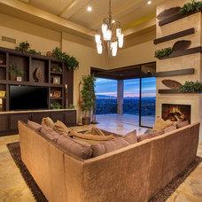 Asian Living Room by Richard Luke Architects P.C.