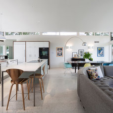 Midcentury Living Room by Rick & Cindy Black Architects