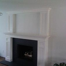 Traditional Living Room by Long Island Mantel/Island ArtScreen