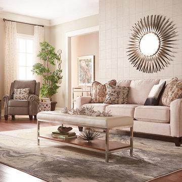 Talbot sofa by La-Z-Boy shown in Caprice