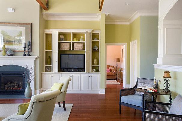 Farmhouse Living Room by SMOOK Architecture & Urban Design, Inc.