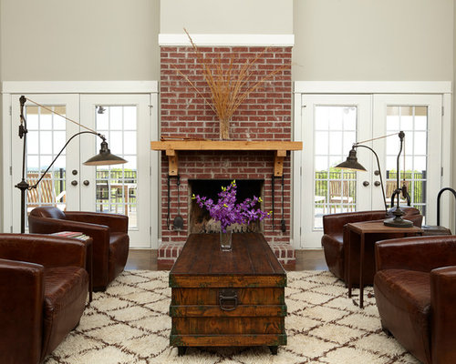 SaveEmail - Brick Fireplace Mantel Design Ideas & Remodel Pictures Houzz