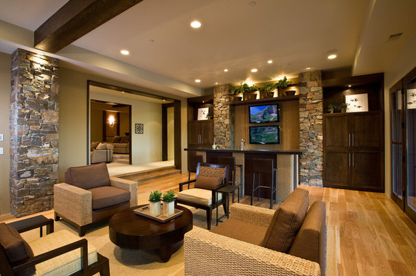 Rustic Living Room by Phillips Development