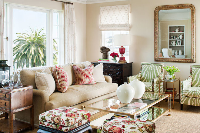 Traditional living room by tamara mack design for Living room furniture arrangement