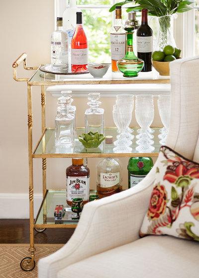 American Traditional Living Room by Tamara Mack Design