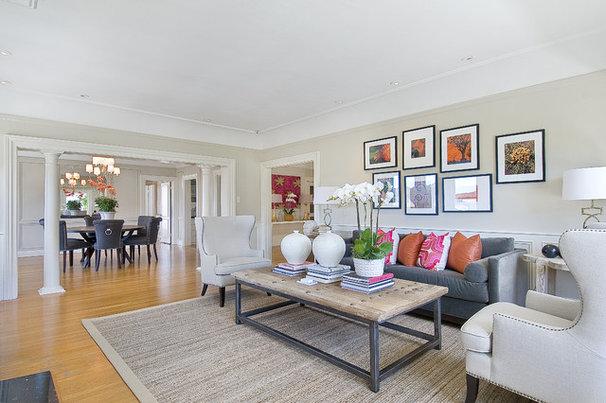 Contemporary Living Room by Tamara Mack Design