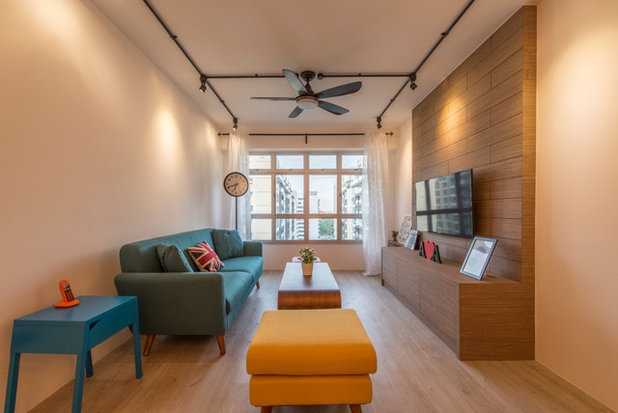 Contemporary Living Room by Couple Abode Pte Ltd