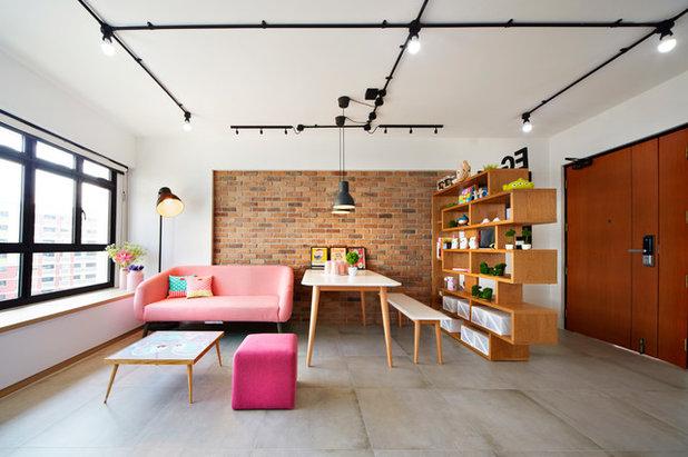 Scandinavian Living Room by White Attic Interior