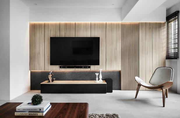 Modern Family  Room by Icon Interior Design Pte Ltd