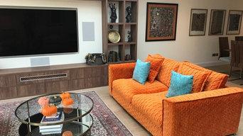 Tangerine & orange scheme - open living