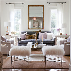 Transitional Living Room by Sally Wheat Interiors