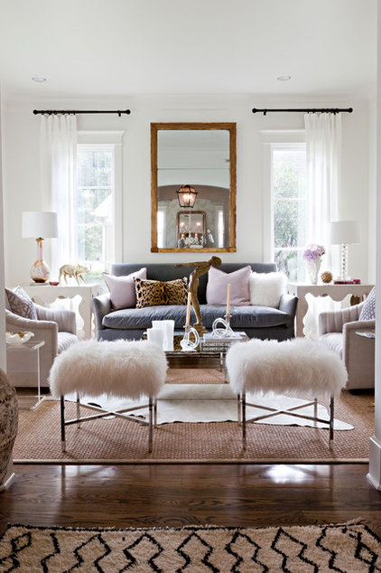 eclectic living room by Sally Wheat Interiors