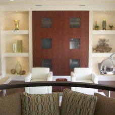 Contemporary Living Room by Tanya Burley Design - The Studio on First