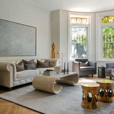Transitional Living Room by Tanya Capaldo Designs
