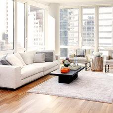 Contemporary Living Room by Tara Benet Design