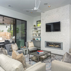Contemporary Living Room by Kelle Contine Interior Design, LLC