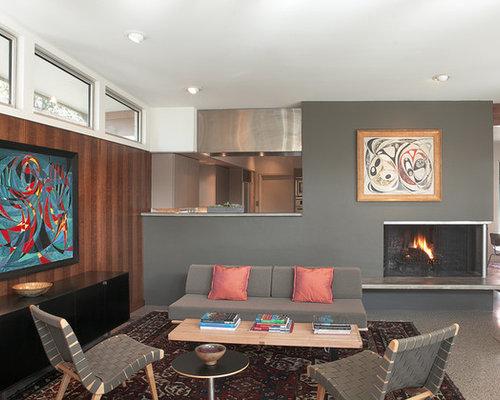 Living Room Corner Fireplace | Houzz