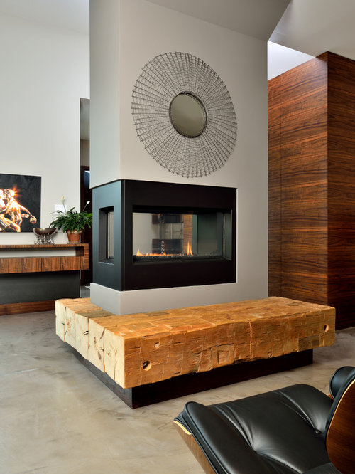 Three way fireplace home design ideas pictures remodel for Three way fireplace