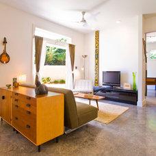 Contemporary Living Room by HEIDI SCHWEIZER, Architect-Builder