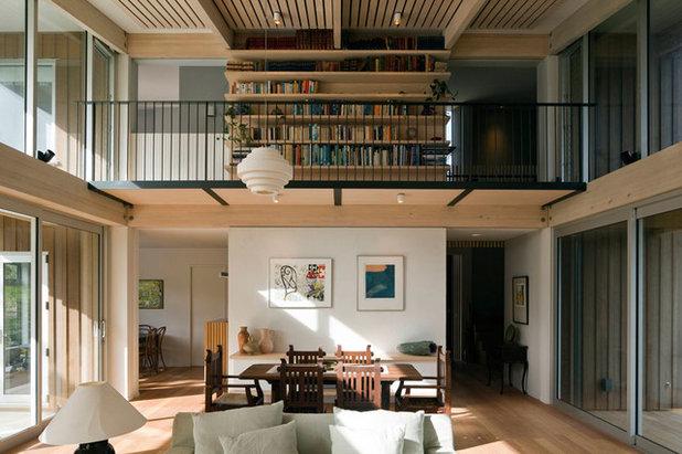 Contemporary Living Room by Sills van Bohemen Architects