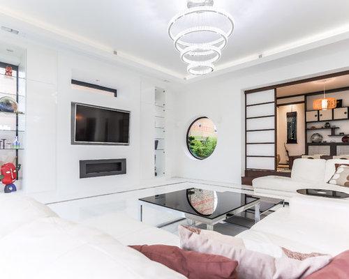 Asiatische Wohnzimmer mit Marmorboden - Ideen, Design, Bilder & Beispiele