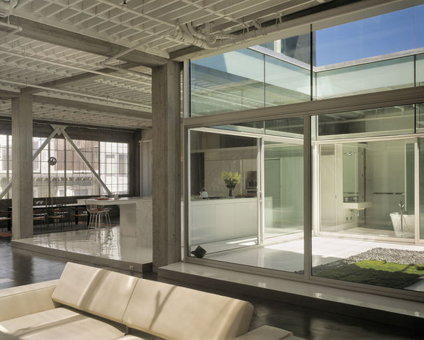 Industrial Living Room by Fougeron Architecture FAIA