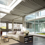 Laight Street Loft Industrial Living Room New York