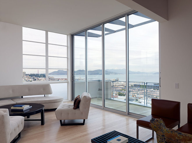 Modern Living Room by Moroso Construction