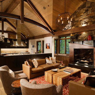 75 Rustic Living Room Design Ideas - Stylish Rustic Living Room ...